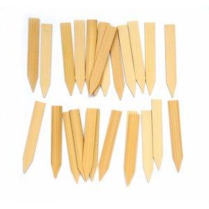 Mini Steeketiketten  - Bamboe        25 stuks 60 x 10 mm