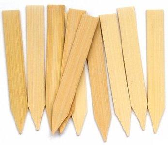 Steeketiketten          -       Bamboe        25 stuks 100 x 14 mm