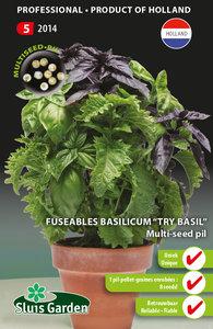Basilicum Try Basil,  Fuseable multi-seed pil
