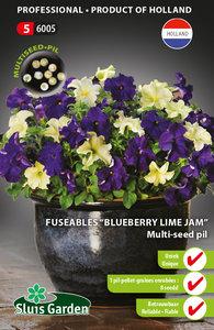 "Fuseable multi-seed pil ""Petunia Blueberry Lime Jam F1"""